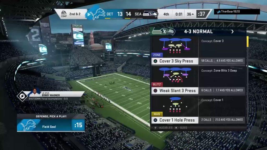 COFL Season XX: Seahawks (2-13) VS Lions (11-4)