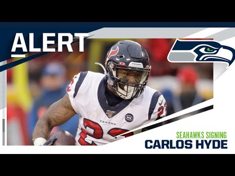 Seahawks sign Running Back Carlos Hyde.