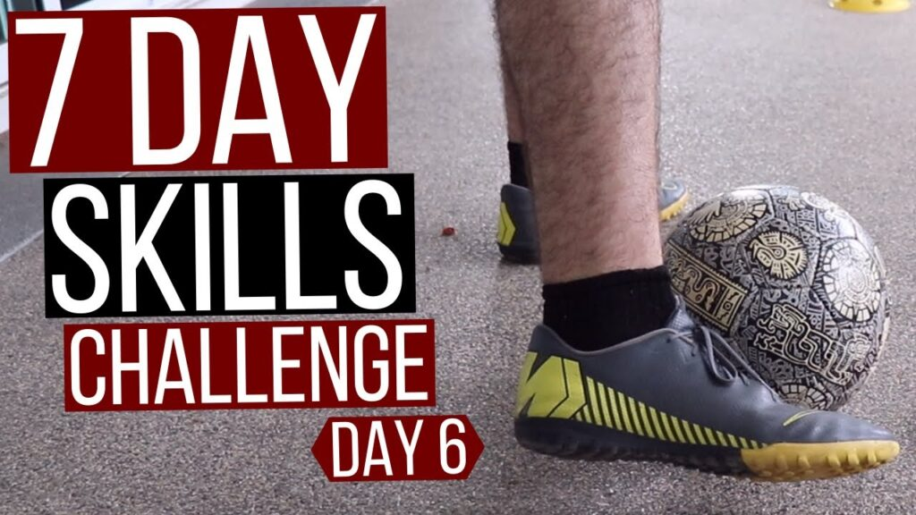 7 Day Soccer Skills Challenge At Home // Day 6 – First Touch Football Training