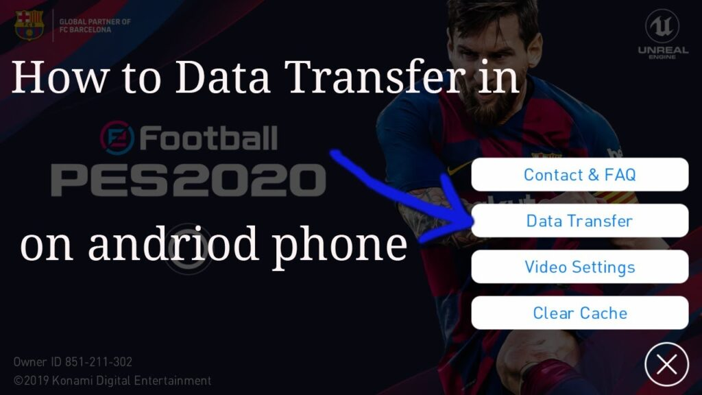 How to Data transfers in e football pro evolution soccer 2020 on andriod phone