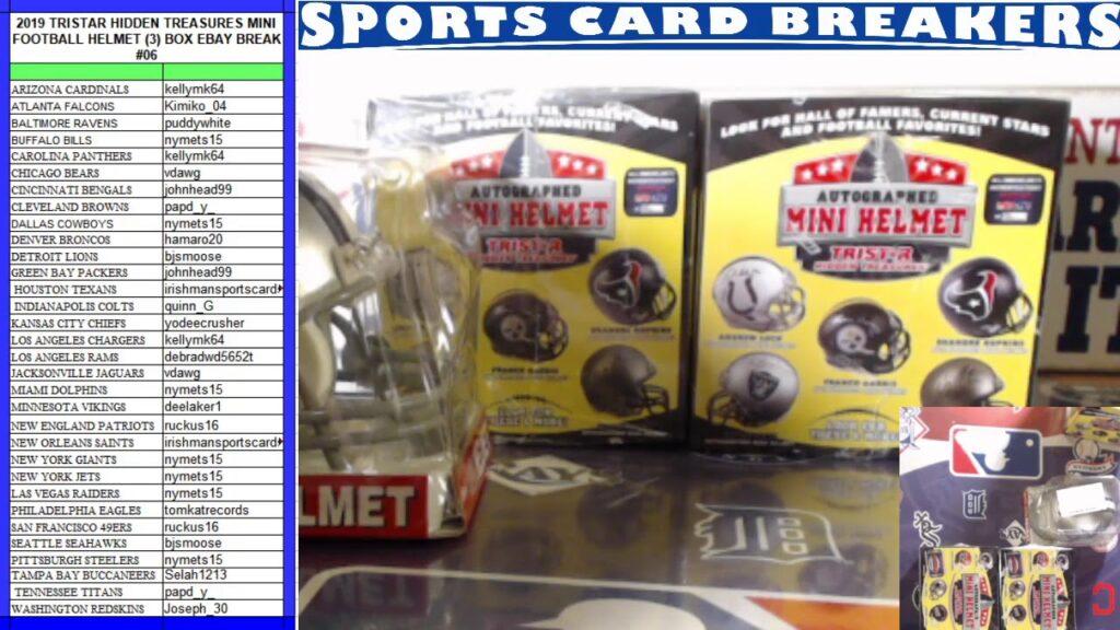 COWBOYS BROWNS COLTS HITS! 2019 TriStar HT Mini Football Helmet (3)Box EBAY Break #06