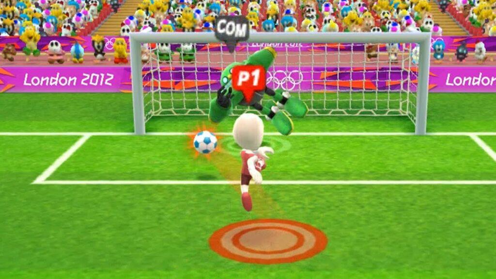 Team Zunzun Play Football Mario & Sonic at the London 2012 Olympic Games