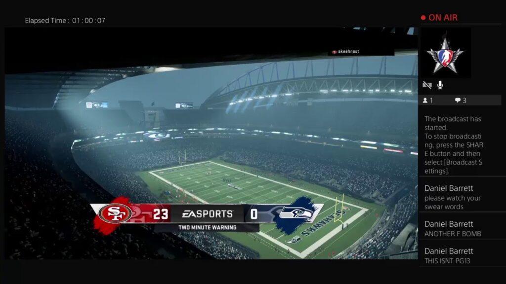 FoF fantasy factory league – Week 10 Online Madden franchise – 49ers vs Seahawks