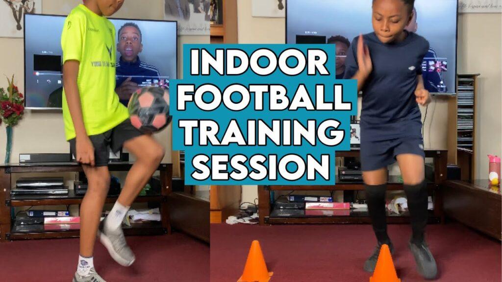 INDOOR FOOTBALL TRAINING! | Wiz and Ez